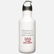 Aspergers Obsessed Foc Water Bottle