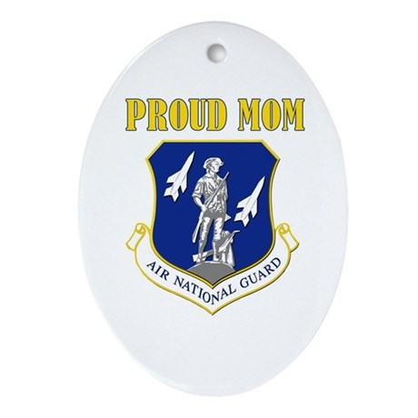 Proud mom Oval Ornament