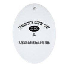 Property of a Lexicographer Oval Ornament