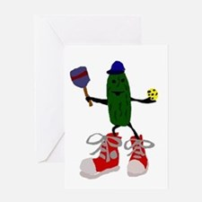 Pickleball Pickle Greeting Cards