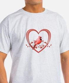Cardinal in Heart T-Shirt