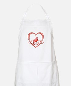 Cardinal in Heart Apron
