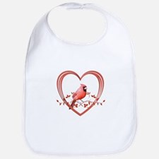 Cardinal in Heart Bib