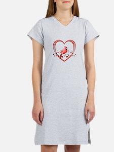Cardinal in Heart Women's Nightshirt