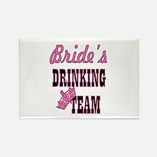 bachelorette bride's drinking team Magnets