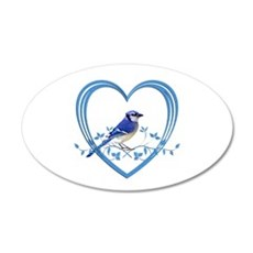 Blue Jay in Heart Wall Decal