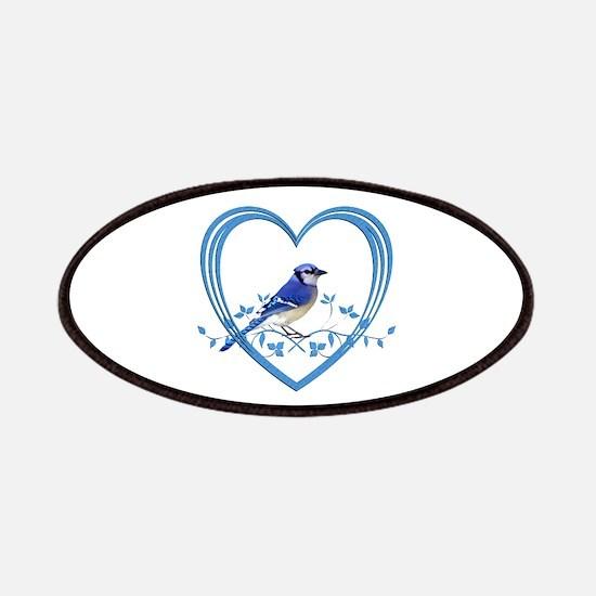 Blue Jay in Heart Patch