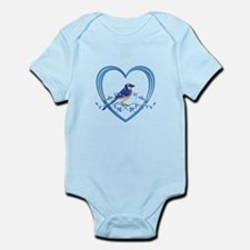 Blue Jay in Heart Infant Bodysuit