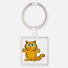 Cute Cute but psycho Square Keychain