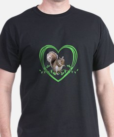 Squirrel in Heart T-Shirt