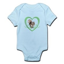 Squirrel in Heart Infant Bodysuit