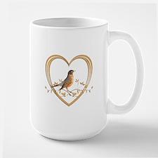 Robin in Heart Mug