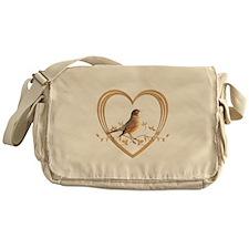 Robin in Heart Messenger Bag