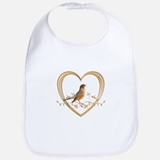Robin in Heart Bib