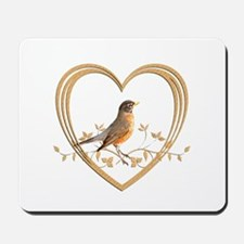 Robin in Heart Mousepad