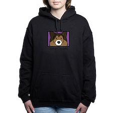 Funny Shetland sheepdog Women's Hooded Sweatshirt