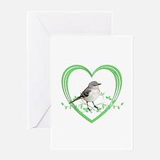 Mockingbird in Heart Greeting Card