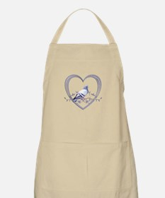 Pigeon in Heart Apron
