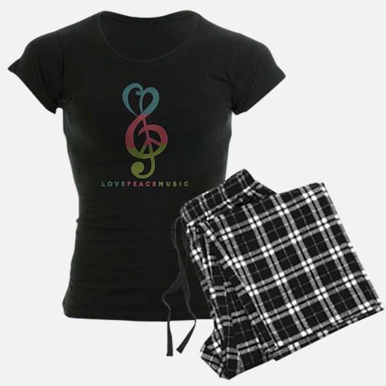 Love Peace Music Treble Symbol Modern Pajamas