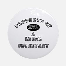 Property of a Legal Secretary Ornament (Round)