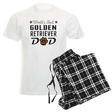 Worlds Best Golden Retriever Dad Pajamas