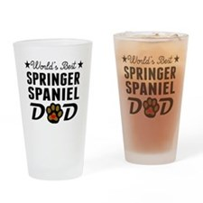 World's Best Springer Spaniel Dad Drinking Glass