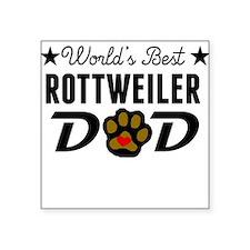 World's Best Rottweiler Dad Sticker