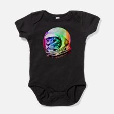 Astronaut Space Cat (digital rainbow Baby Bodysuit