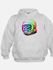 Astronaut Space Cat (digital rainbow v Hoodie