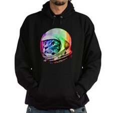 Astronaut Space Cat (digital rainbow Hoodie
