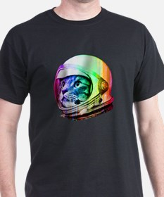 Astronaut Space Cat (digital rainbow T-Shirt
