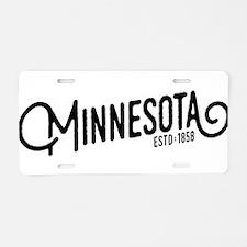 Minnesota Aluminum License Plate
