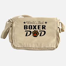 World's Best Boxer Dad Messenger Bag