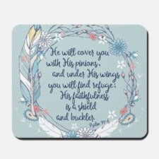 Under His Wings Mousepad