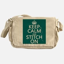 Keep Calm and Stitch On Messenger Bag