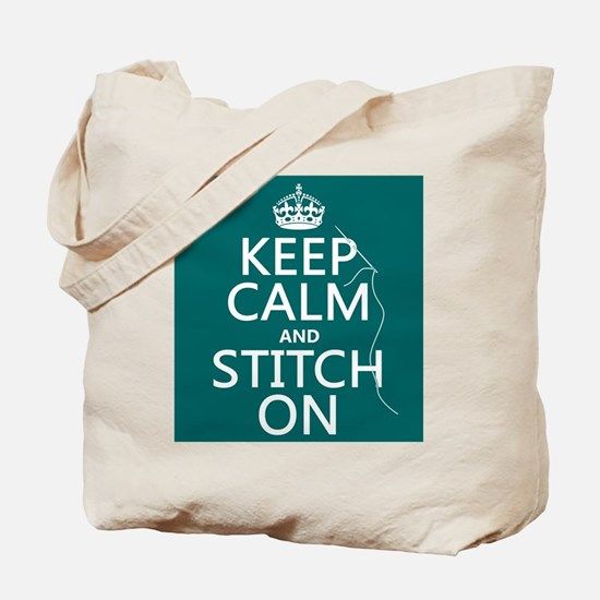 Keep Calm and Stitch On Tote Bag