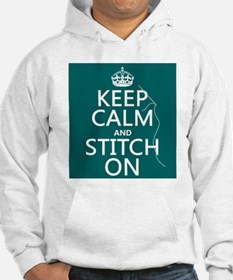 Keep Calm and Stitch On Jumper Hoody