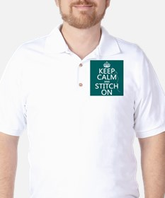 Keep Calm and Stitch On Golf Shirt