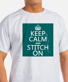 Keep Calm and Stitch On T-Shirt