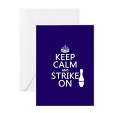 Keep Calm and Strike On Greeting Cards