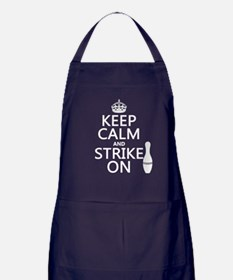 Keep Calm and Strike On Apron (dark)