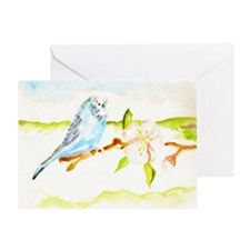 Budgie Greeting Card