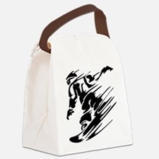 SNOWBOARDING! Canvas Lunch Bag