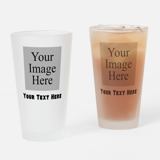 Your Image And Text Drinking Glass