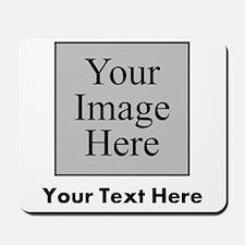 Custom Image And Text Mousepad