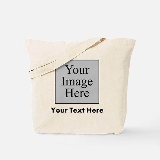 Custom Image And Text Tote Bag