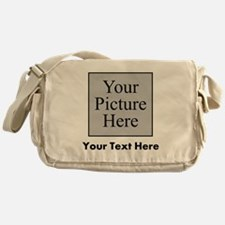 Custom Picture And Text Messenger Bag
