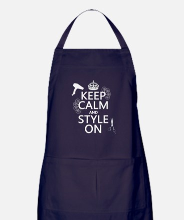 Keep Calm and Style On Apron (dark)