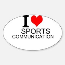 I Love Sports Communications Decal