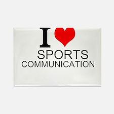 I Love Sports Communications Magnets